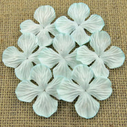 "WOC - Hydrangea Blooms - 25mm (1"") - Aqua - 10 pack"