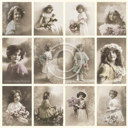 Pion Design - From Grandma's Attic - Tinted - 12x12 Paper - Flower Girls