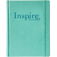Bible - Inspire NLT: With 400 illustrations For Creative Bible Art Journaling - Aquamarine