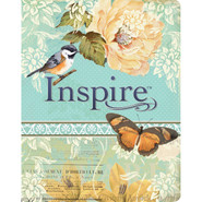 Inspire Bible NLT: With 400 illustrations For Creative Bible Art Journaling - Vintage Floral