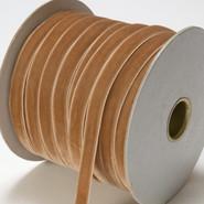 "May Arts Ribbon - Velvet Ribbon - 1 Yard - 3/8"" - Antique Gold"