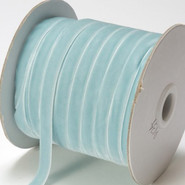 "May Arts Ribbon - Velvet Ribbon - 1 Yard - 3/8"" - Light Blue"