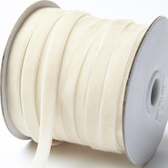 "May Arts Ribbon - Velvet Ribbon - 1 Yard - 3/8"" - Ivory"