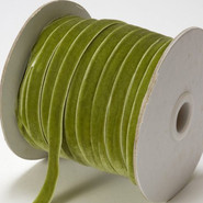 "May Arts Ribbon - Velvet Ribbon - 1 Yard - 3/8"" - Parrot Green"