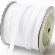 "May Arts Ribbon - Velvet Ribbon - 1 Yard - 3/8"" - White"