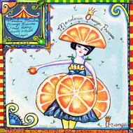 Orange Dress Tile Trivet