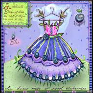 Blueberry Dress Tile Trivet