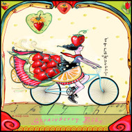 Strawberry Bike Tile Trivet