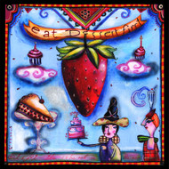 Eat Dessert First Strawberry Tile Trivet