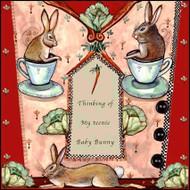 Baby Bunny Tile Trivet