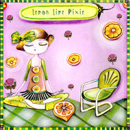 Lemon Lime Pixie ceramic tile trivet
