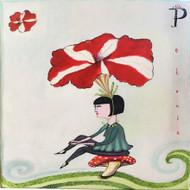 Red Petunia Hat Tile Trivet