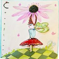 Cone Flower Hat Tile Trivet