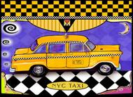 Taxi Ceramic Tile Trivet