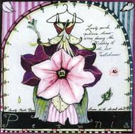Pink Petunia Tile Trivet
