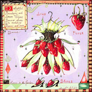 Strawberry Dress Tile Trivet
