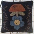 Primitive Pincushion - Flower pattern and kit designed by JPVDesigns - Julie Ploehn-Vigna