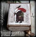 Olde Father Christmas punchneedle pattern designer Vermont Harvest Folk Art