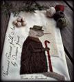 Winter in Woodstock punchneedle pattern designer Vermont Harvest Folk Art
