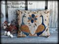 Down Peacock Lane punchneedle pattern designer Vermont Harvest Folk Art