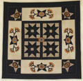 Midnight Blossoms Wool Wall Quilt