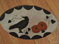October Crow - wool penny rug