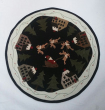 Santa Village table mat designed by Cricket Street Wool