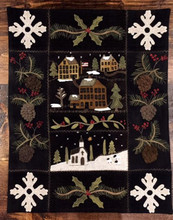 Snow Village pattern designed by Cricket Street Wool