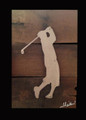 Reclaimed Wood with Metal Legend Golfer