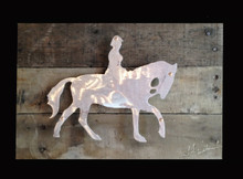 Reclaimed Wood with Metal English Rider