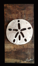 Reclaimed Wood with Metal Sand Dollar