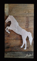 Reclaimed Wood with Metal Horse Raring