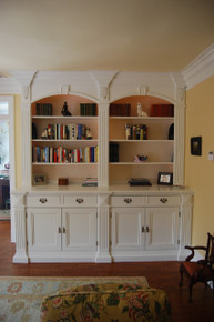 Double Bookcase with TV Lift