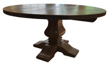Knotty Oak Banquet pedestal with Leaf Option