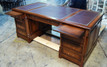 Maple Pedestal Desk with brushing slides extended