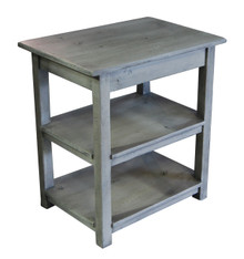 Side Table with 2 Shelves