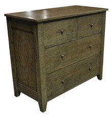 2 over 2 Chest of Drawers with greyish finish Iron handles