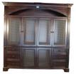 Door panels with antiqued brass screen