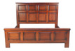 Mahogany Panel bed.King size. Available pine, cherry oak and painted finishes.