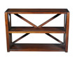 Small X-Motif Etagere in Tudor Finish on Pine