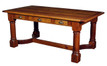 Refectory Table / Desk in Reclaimed Timber with drawers in Antique Pine finish