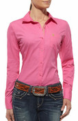 Ariat Western Shirt Womens Kirby L/S Button Trippy Pink - 10012303