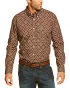 Ariat Men's Dante Flower Print Button Long Sleeve Shirt  - 10016895