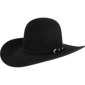 American Hat Company 10X Black Open Crown 4.5 Brim Felt Cowboy Hat - 10X6-0BL