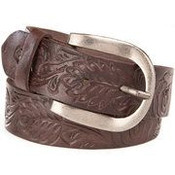 Women's Gem Dandy Brown Tooled Belt - 8804790