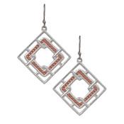 Interlocking Square Earrings - ER2678SC