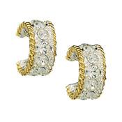 Crystal Shine in Gold Small Hoop Earrings  - ER61133