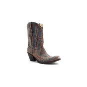 Corral Boots Corral Women's Brown Turquoise Stitched Boots - G1121