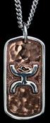 Bar V Hammered Copper Necklace, Silver Hooey- HY316-220