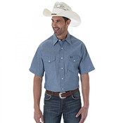 WRANGLER MEN'S AUTHENTIC COWBOY CUT WORK SHIRT - MS382BL